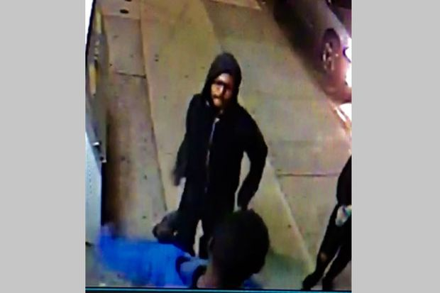 Police are looking for this suspect who they say stabbed another man outside a Hollis bodega on April 12.