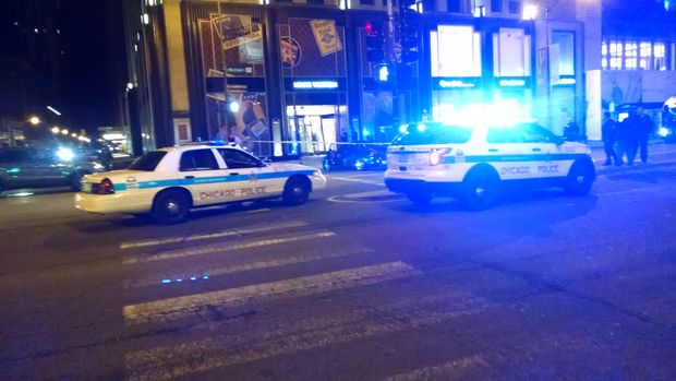 A group of thieves used a BMW to smash thedoors of the Magnificent Mile'sLouis Vuitton, a midnight crash-and-grab that cost the high-end store dozens of handbags.
