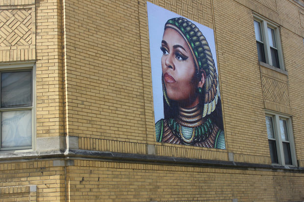 Chicago artists on michelle obama mural flap 39 it 39 s a for Chicago mural artist