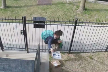 Schoolgirl Gets Creative While Stealing Package From Chicago Yard (VIDEO)