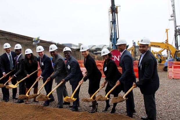 After months of delays, officials broke ground Tuesday on a $407 million massive two-tower mixed-use complex planned for the Jamaica AirTrain station area that will bring 669 affordable housing units to downtown Jamaica.