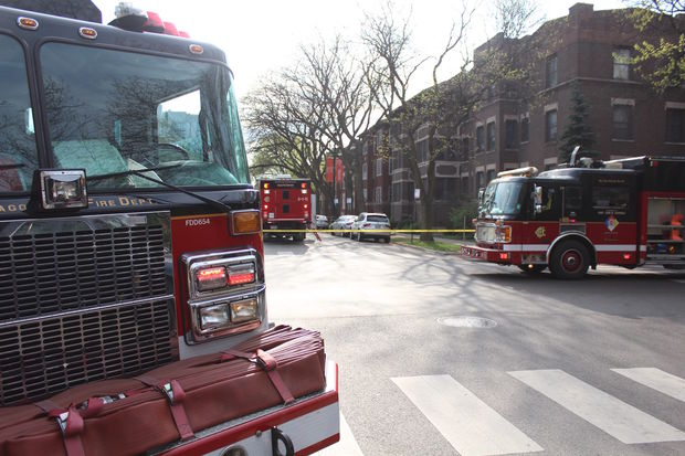 Hazmat teams responded to a situation in Hyde Park early Wednesday and found a man dead in his apartment, officials said.