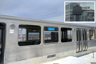 Google Building's Newest Perk? A CTA Train Car On Its Roof