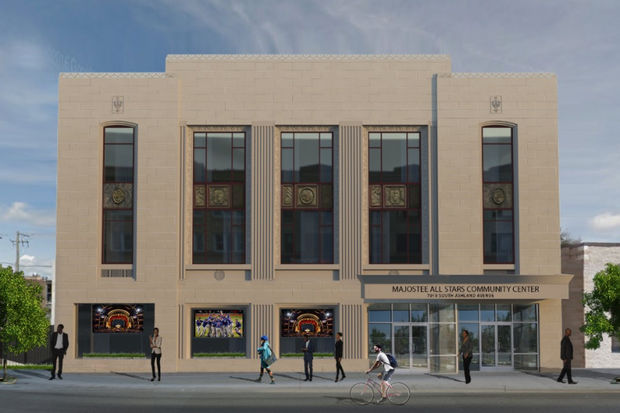 A rendering shows what the Majostee Allstars Youth Center in Auburn Gresham will look like after being renovated.