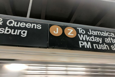 J train service will be suspended weeknights in lower Manhattan May 1-5 and May 8-12 for MTA FASTRACK repairs.