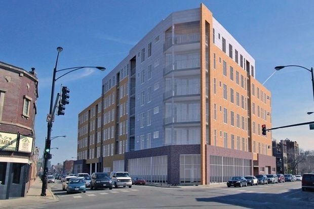 A proposed development at 3154 N. Elston Ave. lacks the approval of Ald. Deb Mell (33rd) and neighbors.