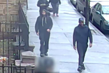 A pair of robbers viciously attacked a 51-year-old man and stole his gym bag, police said.