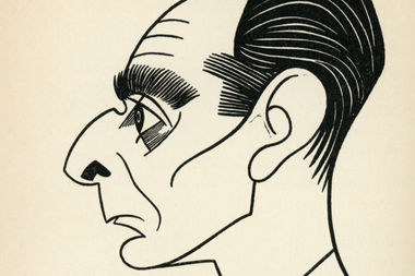 A drawing of Ring Lardner is on the cover of a collection of his