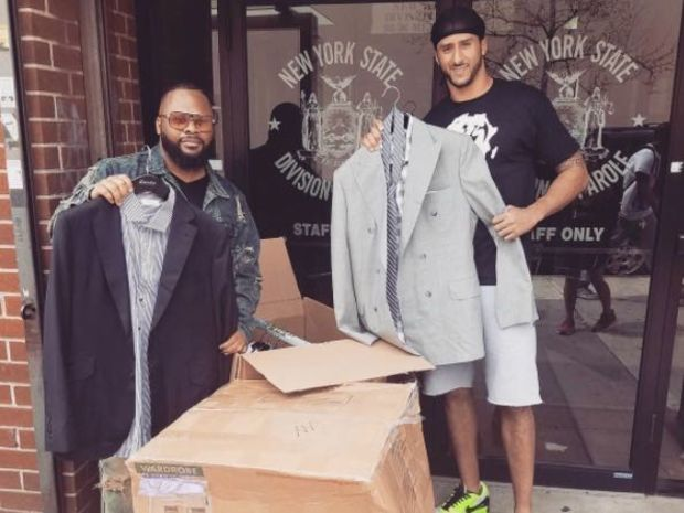 Colin Kaepernick donated 50 free suits to a Jamaica-based organization.