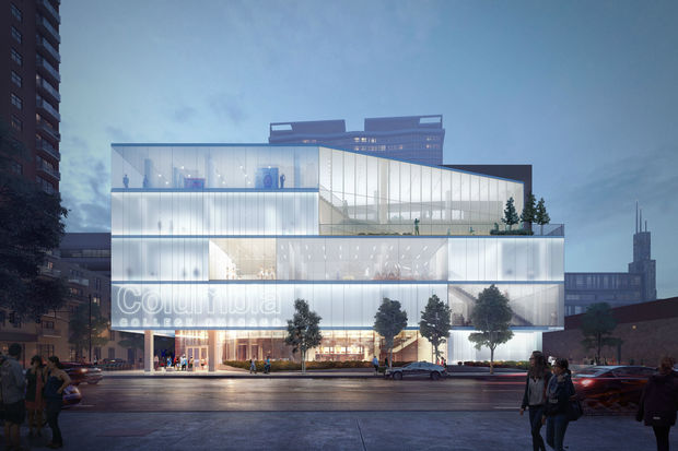 Renderings of a new student center coming to Columbia College Chicago.