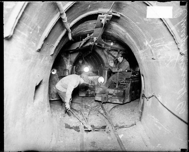 Underground tunnels in Chicago