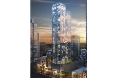 A rendering of the 47-story tower underway at 1326 S. Michigan Ave. The tower is set to open in 2019.