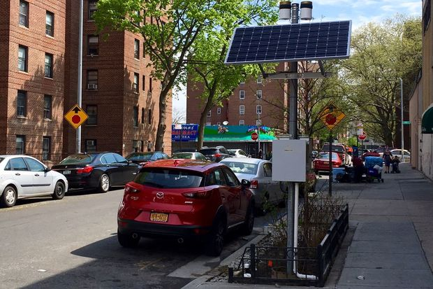 A new solar panel  has recently been installed at a bioswale in Forest Hills.