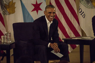 Former President Barack Obama announced plans for his presidential library Wednesday at the South Shore Cultural Center.