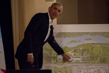 Former President Barack Obama announced initial plans for his presidential library in May at the South Shore Cultural Center.