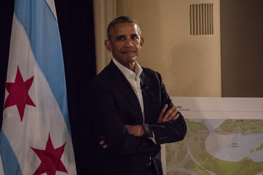 Former President Barack Obama announced plans for his presidential library at the South Shore Cultural Center.