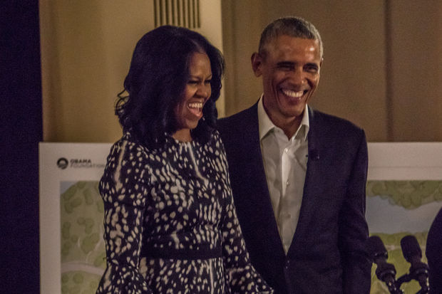 The Obamas will both speak Tuesday and Wednesday at the Obama Summit in the South Loop.