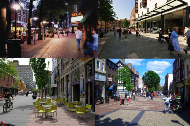 Images from the streetscape plan first presented in 2014