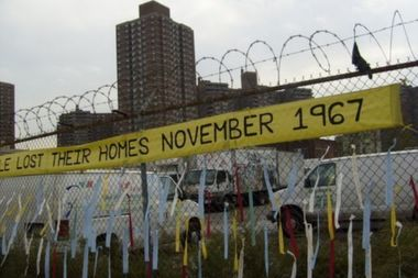 SPARC in 2009 held a vigil for displaced tenants at the vacant SPEURA site.