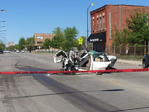 A CTA bus and car crash killed four people Sunday morning in the Near West Side, police said.