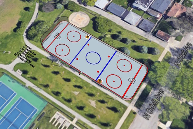 The 175-by-75-foot rink is pegged for a
