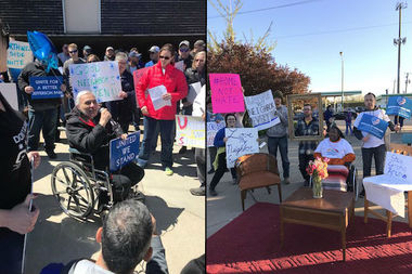 Northwest Side Unite and Neighbors for Affordable Housing in Jefferson Park both held rallies over weekend at 5150 N. Northwest Hwy., where a mixed-income apartment complex is being proposed.