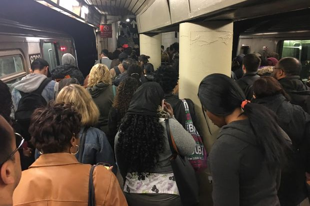 Electrical problems at the same station stranded straphangers on Sunday.