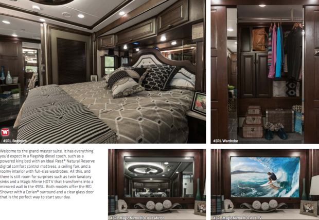 Joe maddon 39 s new rv is incredible it even has a for Rv with 2 master bedrooms