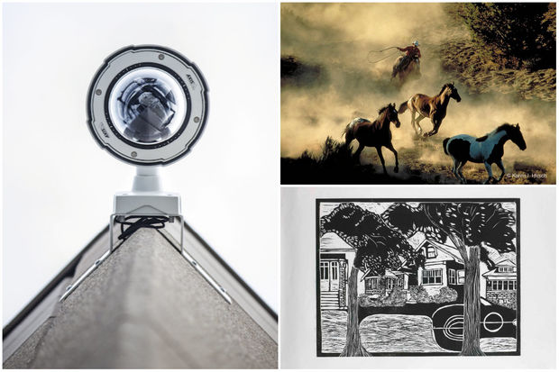 Art by Jazmin Dua (left), Karen Hirsch (top) and Jessica Lucas (bottom).