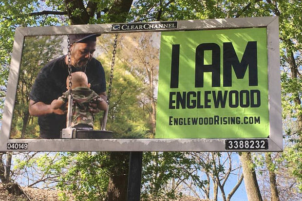 The photo was taken by Englewood photographer Tonika Johnson for the #EnglewoodRising Campaign.
