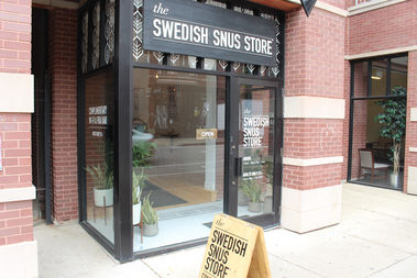 The Swedish Snus Store is a pop-up shop at 840 W. Armitage Ave., set to run through October.