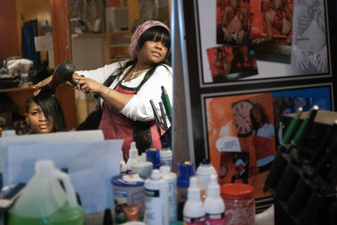 Tonika Johnson's work captures Englewood residents in their natural element.