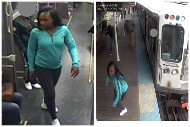 Police say this woman committed two daytime robberies last week on the Green and Pink lines.
