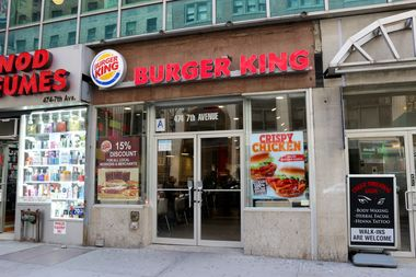 The Burger King at 474 Seventh Ave., between West 35th and 36th streets.