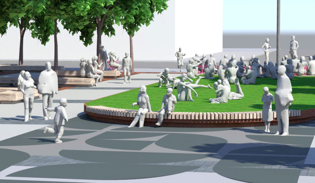 North Center Town Square Concepts
