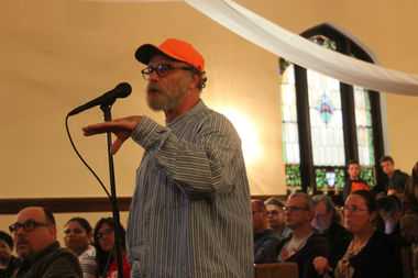 Church leaders presented their proposal, which is in very early stages, to more than 100 residents in the church's sanctuary, 3325 W. Wrightwood Ave., Tuesday evening in hopes of eventually securing a zoning change to build the development.