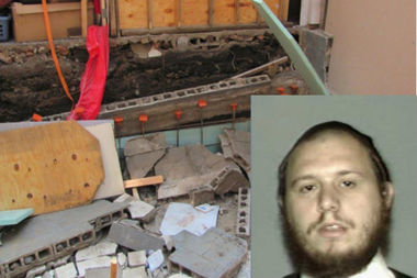 Michael Weiss (inset) was charged with homicide and a host of other charges in connection to the Sept. 3, 2015 collapse at a Myrtle Avenue worksite that killed 18-year-old construction worker Fernando Vanegas.