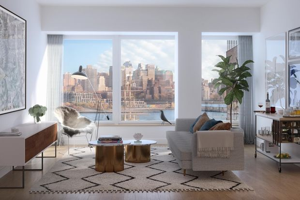This high-end new development on 180 Water Street in Lower Manhattan currently start at $2,566 a month for a studio.