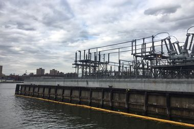 Workers have recovered 560 gallons of synthetic mineral oil from the East River, officials said.