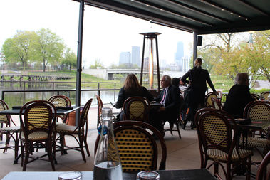 No Matter The Unpredictable Chicago Springtime Weather, The Patio At Cafe  Brauer Offers Views Of