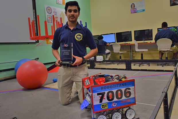 Roshaan Siddiqui, a 17-year-old Junior at Chicago Math and Science Academy, took home one of only a handful of trophies from an international robotics competition last month.