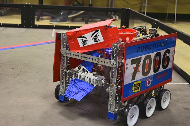 The Robotitans robot, who won the team two awards this year, as well as earned Siddiqui the renown