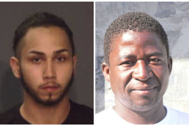 Enrique Foote, left, was arrested Thursday, seven days after he attacked Soulemayne Porgo, right, officials said. Another man was also arrested Thursday in the beating.