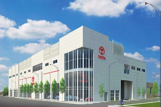 Colossal New Toyota Dealership Construction Work Underway - Toyota dealerships chicago