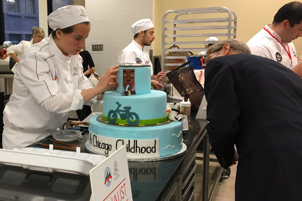 Mia Engelmann from Whitney Young won the inaugural Mayor's Cup Youth Pastry Competition.