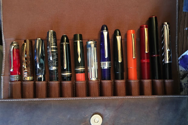 About $40,000 worth of pens were stolen from collector Daniel Smith's car at the museum campus. The pens pictured here were among those taken.