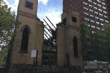 The Beth Hamedrash Hagodol synagogue was largely destroyed in a massive fire Sunday night.