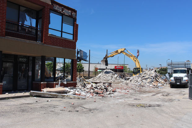 Demolition is underway at 2300 N. Clybourn Ave., former home of a FedEx/Kinko's office.