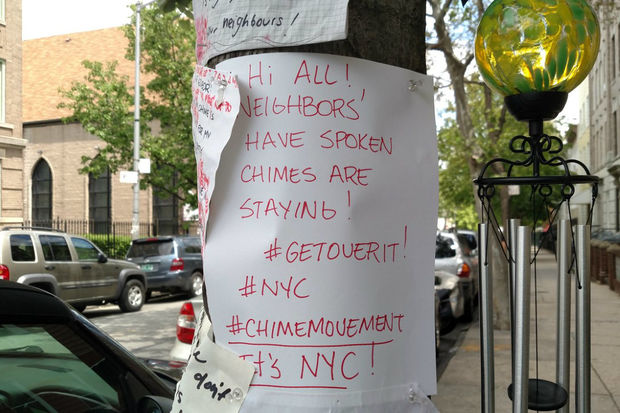 A wind chime became a flashpoint on a Greenpoint block.