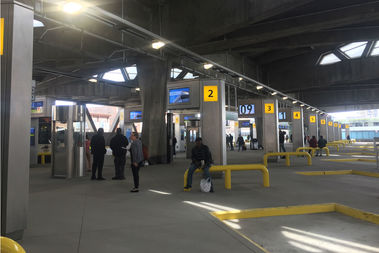 The long-awaited George Washington Bridge Terminal finally opened Tuesday, 2 years behind schedule.